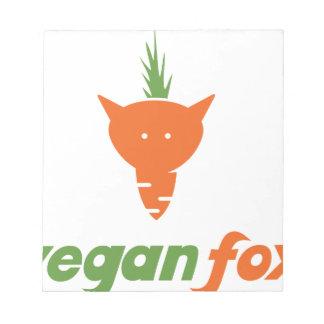 Vegan Fox Notepad