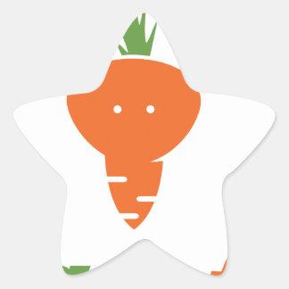 Vegan Fox Star Sticker