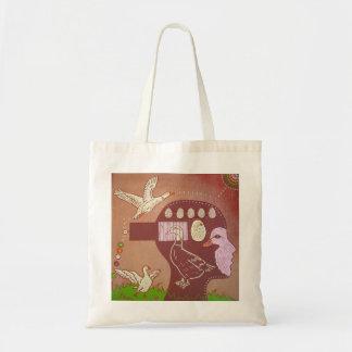 Vegan free duck tote bag