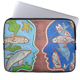 Vegan free fish computer cover