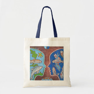 Vegan free fish tote bag