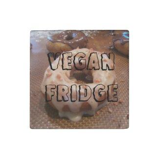 Vegan Fridge (featuring vegan donuts!) Stone Magnet