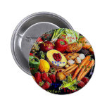 Vegan Fruits and Vegetables Pinback Button