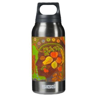 Vegan fruits monkey insulated water bottle