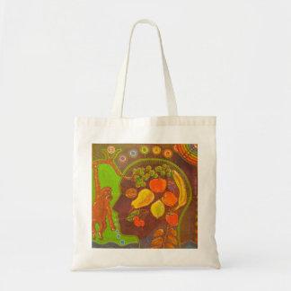 Vegan fruits tote bag