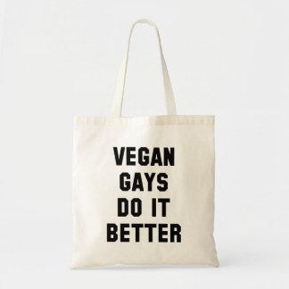 Vegan gays do it better tote bag