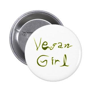Vegan Girl 1 Buttons