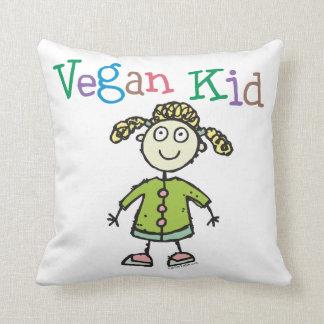 Vegan Girl Throw Pillow