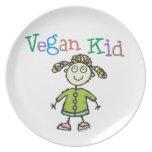 Vegan Girl Plates