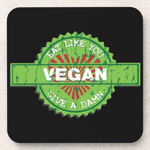 Vegan Give a Damn Coasters