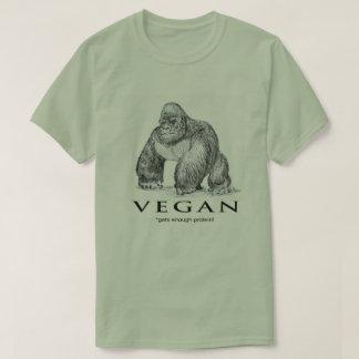 Vegan gorilla gets enough protein funny T-Shirt