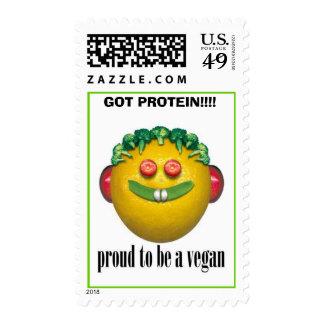 vegan, GOT PROTEIN!!!! - Stamp