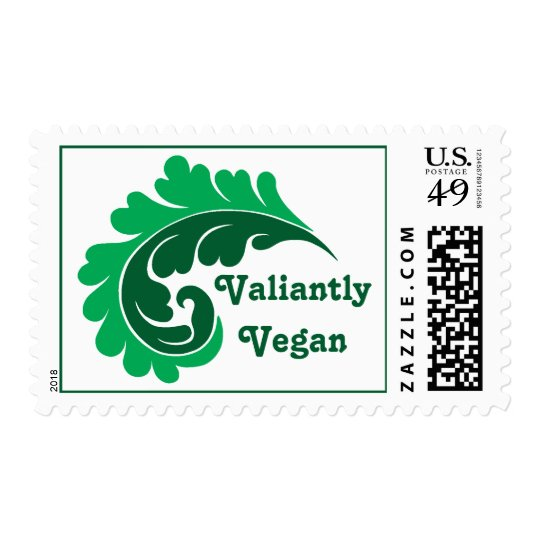 Vegan green leaf postage