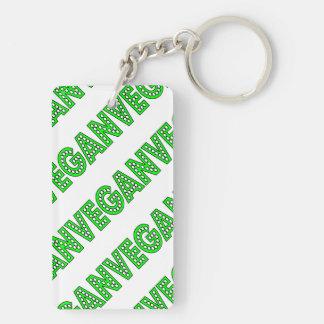 Vegan Green Logo Keychain