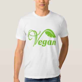 Vegan green logo t-shirt. tshirt