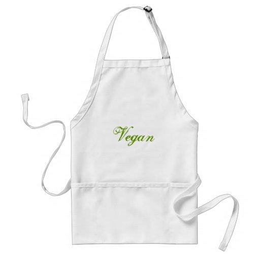 Vegan. Green. Slogan. Custom Aprons
