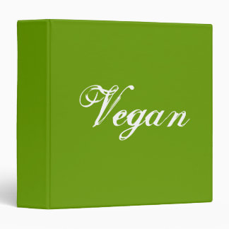 Vegan. Green. Slogan. Custom Binder