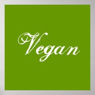 Vegan. Green. Slogan. Custom Posters