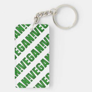 Vegan Green Stripes Keychain