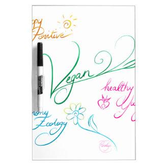 Vegan & happy lifestyle dry erase board