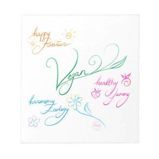 Vegan & happy lifestyle notepad