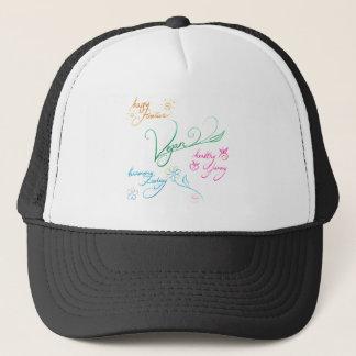 Vegan & happy lifestyle trucker hat