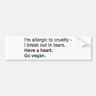 Vegan - Have a heart Bumper Stickers