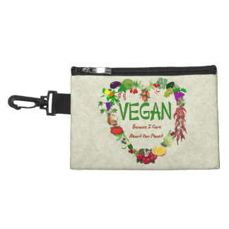 Vegan Heart Accessory Bag