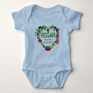 Vegan Heart Baby Bodysuit