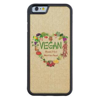 Vegan Heart Carved Maple iPhone 6 Bumper Case
