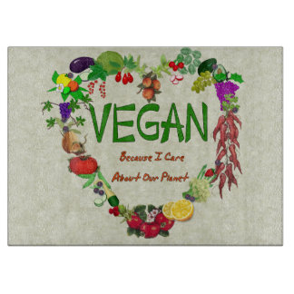 Vegan Heart Cutting Board