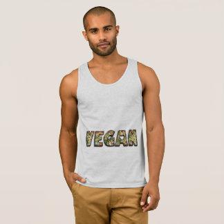 Vegan Heart Food Vegetables Funny Typography Tank Top