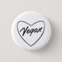 VEGAN Heart Pin Badge
