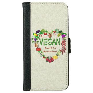 Vegan Heart Wallet Phone Case For iPhone 6/6s