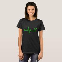 Vegan Heartbeat Pulse Women T-Shirt Veganism