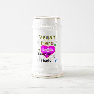 Vegan Hero Beer Stein 18 Oz Beer Stein