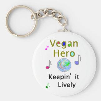 Vegan Hero Key Chain