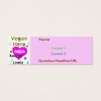 Vegan Hero Pink Mini Business Card
