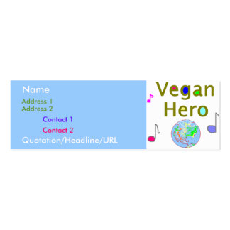 Vegan Hero Profile Card Double-Sided Mini Business Cards (Pack Of 20)