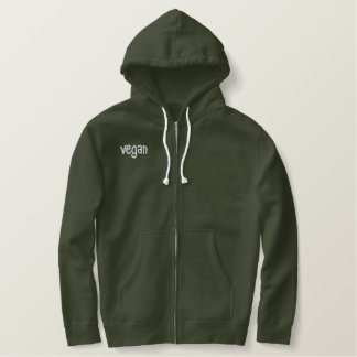 Vegan Hoodie - Embroidered back