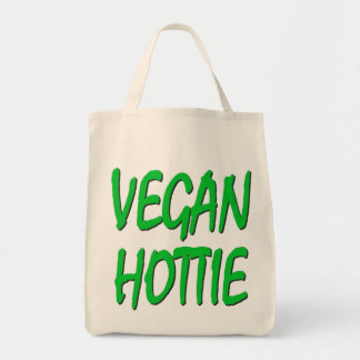 VEGAN HOTTIE Organic Grocery Tote Tote Bag