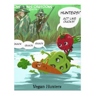 Vegan Hunters Funny Personalized Letterhead