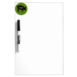 Vegan (in a pig design) Dry-Erase board