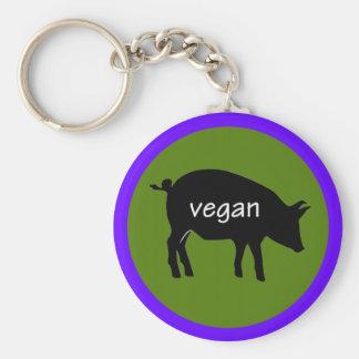 Vegan (in a pig design) keychains