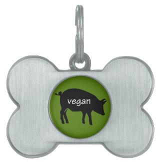 Vegan (in a pig design) pet ID tag