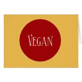 Vegan in a Red Circle Greeting Card