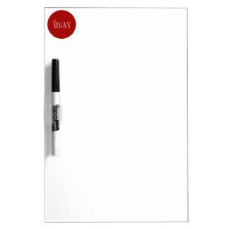 Vegan in a Red Circle Dry-Erase Whiteboard