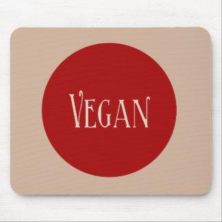 Vegan in a Red Circle Mousepad