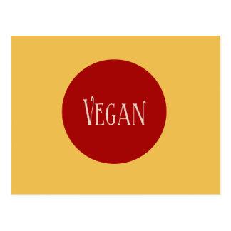 Vegan in a Red Circle Postcard
