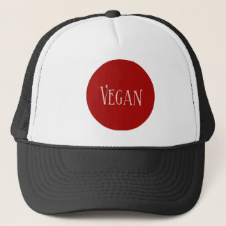 Vegan in a Red Circle Trucker Hat
